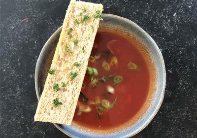 tomatensoep  Plateau eten en drinken