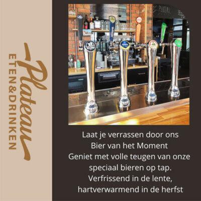Nieuwe menu kaarten en speciale biertjes op de tap